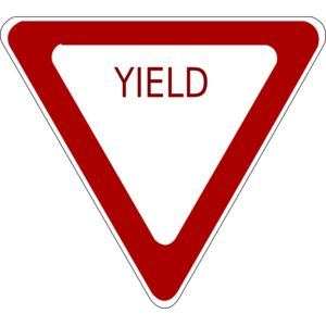schoolfreeware Yield Road Sign Thumbnail