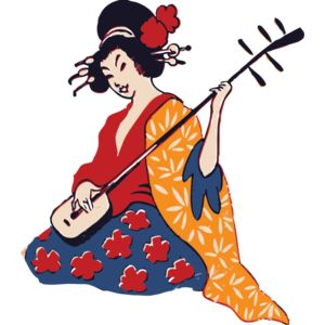 johnny automatic geisha playing shamisen Thumbnail