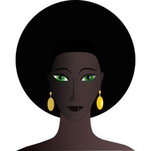 Machovka black woman with green eyes Thumbnail