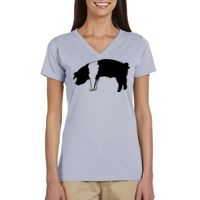 Ladies' 4.4 oz. 100% Organic Cotton Short-Sleeve V-Neck T-Shirt Thumbnail