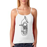 +CANVAS Ladies' Baby Rib Spaghetti Strap Tank Thumbnail